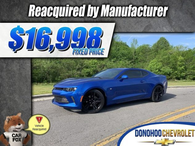 2016 Chevrolet Camaro Reacquired 1LT 2dr Cpe 1LT Gas I4 2.0L/122